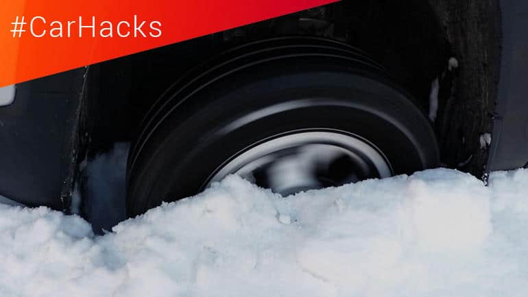 #CarHacks: Getting Out of the Snow When You're Stuck